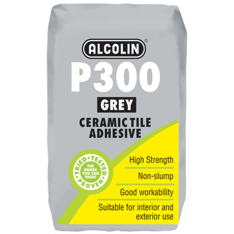 P300 Grey Tile Adhesive Wall Floor Diy Products Alcolin